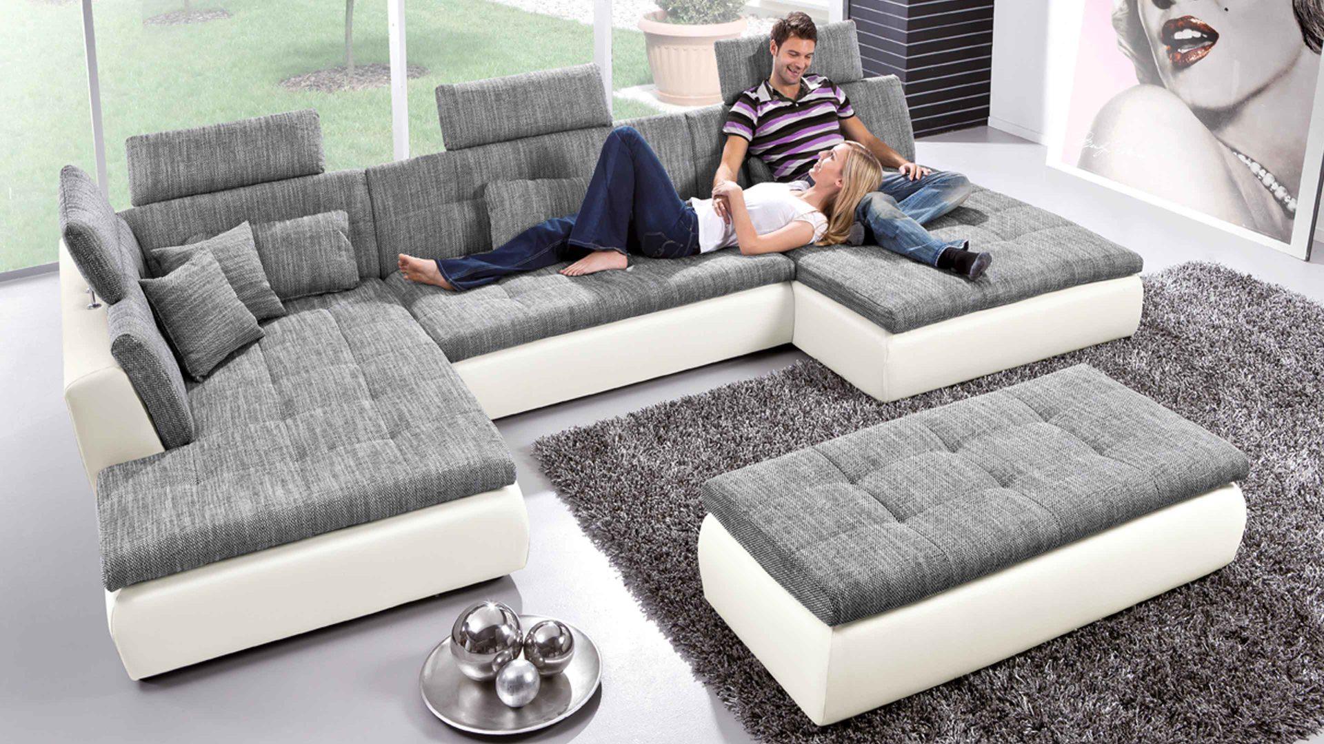Sofa modern stoff grau  Eckcouch Modern Stoff | daredevz.com